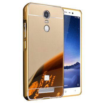 Case Xiaomi Redmi Note 4 Bumper Metal + Back Case Sliding - GOLD