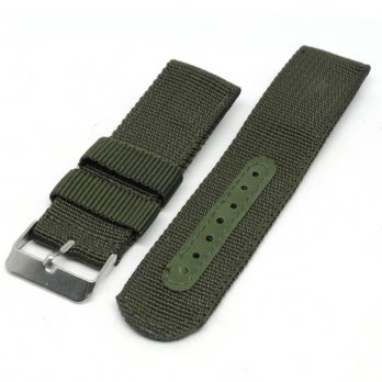 Strap Jam Tangan Model Military Army Nylon 22mm - 2750mxgq - Green
