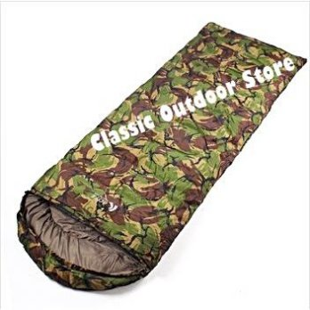 Sleeping Bag Camping Single Army Motif