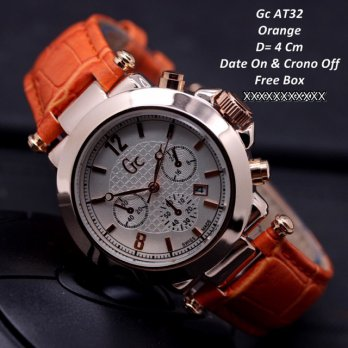 Jam Tangan GC Guess Collection Chrono Kulit ORANGE