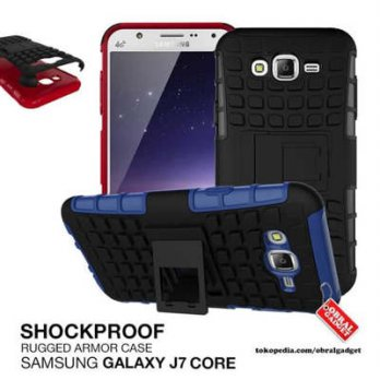 Rugged Armor Case Samsung J7 Core Hybrid Hard  Soft Hardcase Softcase - Hitam