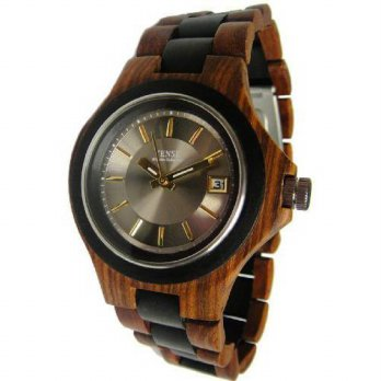 [macyskorea] Tense Mens Sandalwood/Dark Sandalwood Brown Metro Gold/Silver Face Wood Watch/15781535