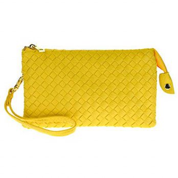 [macyskorea] PROYA Proya Collection Classic Soft Woven Leather Wristlet Clutch (Light Yell/16153411