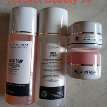 Kitoderm Paket Glowing Forte Cream Lightening Series - krim flek berat