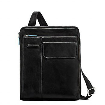 [macyskorea] Piquadro iPad Shoulder Pocket Bag Front Pocket with Flap, Black, One Size/13969694