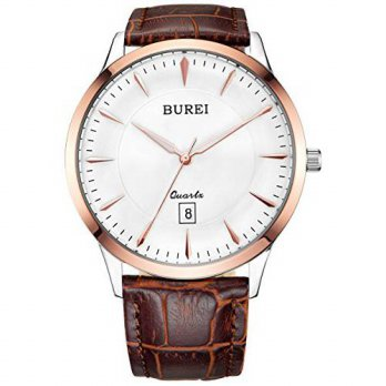 [macyskorea] BUREI Mens Thin Dress Watches with Rose Gold Hand White Dial Sapphire Crystal/15781618