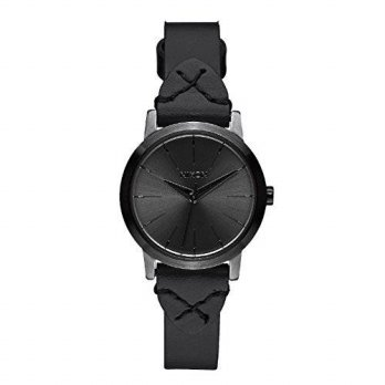 [macyskorea] NIXON Nixon Womens Kenzi A3982132 Black Leather Quartz Watch/15781608