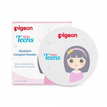 PIGEON Compact Powder Squalane 14Gr - Yellow