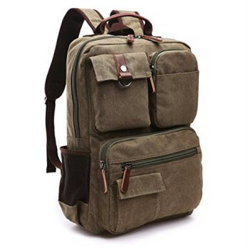 [macyskorea] Aidonger Vintage Canvas School Backpack Laptop Backpack (Army green)/13971434