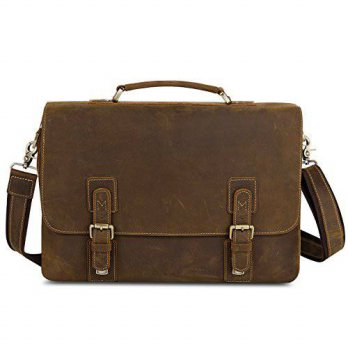 [macyskorea] Kattee Mens Cow Leather Shoulder Briefcase 14 Laptop Tote Messenger Bag/13972011