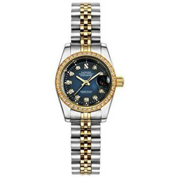 [macyskorea] Topwatch Sangdo Womens Diamond-Accented Bezel Blue Dial two-tone band Automat/15781221