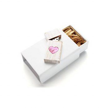 [macyskorea] SameDayFlash Pink Mother of Pearl Veneer Heart in Maple Wood White Wash 16GB /15837421