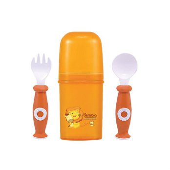 Sendok bayi / Simba Cased Spoon & Fork Set