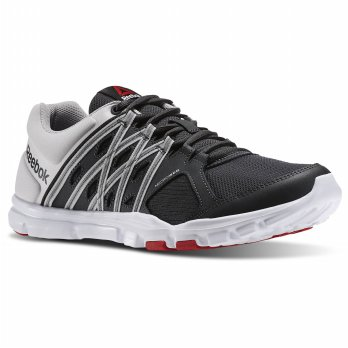 Sepatu running lari gym reebok yourflex train 8.0 hitam original murah