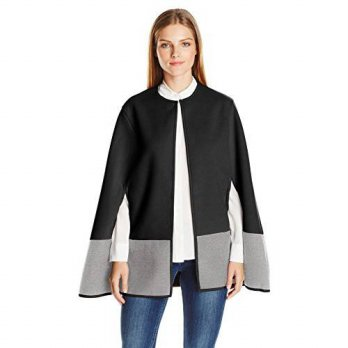 [macyskorea] BCBGeneration Womens Colorblock Cape, Black, One Size/14500020
