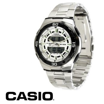 Casio Analaog Digital AQ-164WD-7AVDF Men's Dual Perfect Casio Watch Active Dial Combination