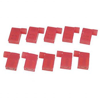 [macyskorea] TOOGOO(R) AWG 22-18 Full Insulated Female Flag Crimp Terminal Red 10 Pcs/16099505