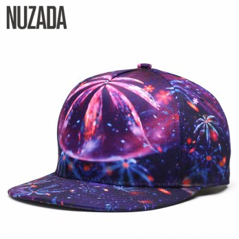 Nuzada Topi Snapback Color Printing - Purple