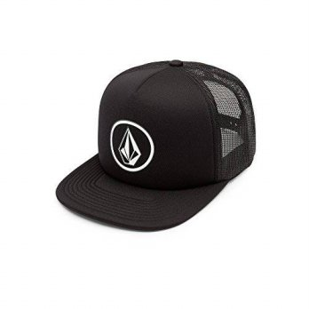 [macyskorea] Volcom Mens Full Frontal Cheese 5 Panel Trucker Hat, Black, O/S/15768489
