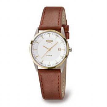 [macyskorea] Boccia Titanium Boccia Dress 3184-02 Ladies Watch with Leather Strap/15866591