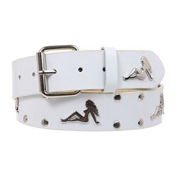 [macyskorea] Beltiscool Snap On Trucker Girl Studded Belt Size: S/M - 32 Color: White/15768036