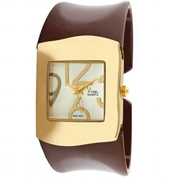 [macyskorea] Viva 14k Gold Plated Brown Acrylic Bangle Fashion Watch V2615BR/16132936
