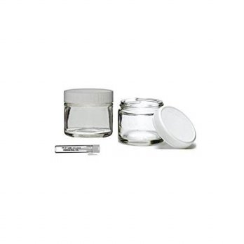 [macyskorea] Perfume Studio Top Quality Thick Straight Sided 2oz Clear Glass Jar with Whit/15793592