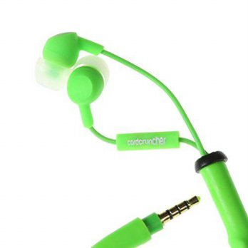 [macyskorea] CordCruncher Tangle Free Earbuds with Microphone, Glo Green/15858599