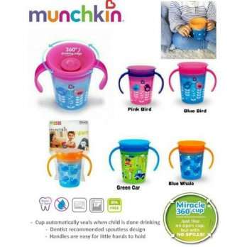 Munchkin Miracle® 360° Deco Trainer Cup - 6oz - Blue Bird
