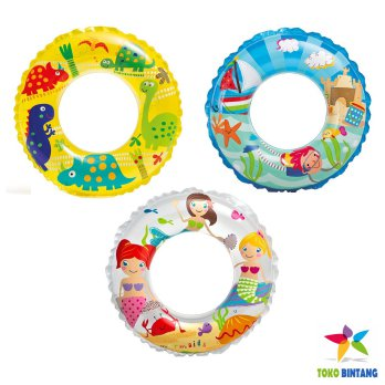 INTEX Ban Renang / Pelampung Anak Bulat  6 th | diameter 61 cm
