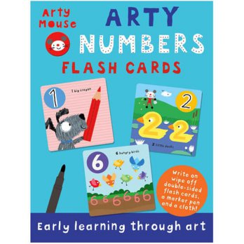 Terlaris Buku Edukasi Anak Arty Mouse NUMBERS Wipe Clean Flash Card