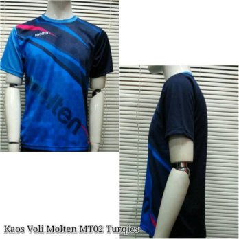Baju Kaos Voli / Volley Molten MT02 Turqies