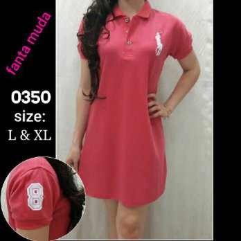 Dress polo pink fanta 0350