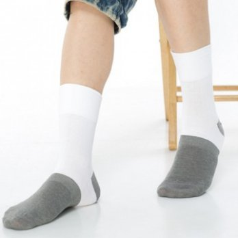 [KEROPPA] Can Nuopa Charcoal Seamless Integrated Wide-mouth X 6 Pairs Of Socks (Mens Socks) C90