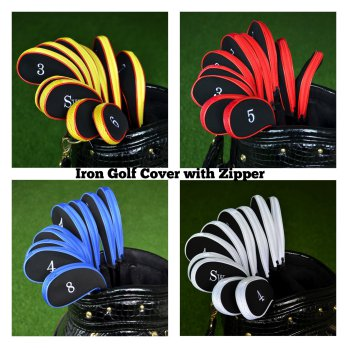 Golf Set Iron Cover Set Zipper - Sarung stick golf 10 pcs
