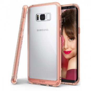 Rearth Samsung Galaxy S8 Plus Case Ringke Fusion - Rose Gold
