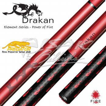 Drakan Fire - Billiard Pool Cue by Predator USA - Stik Biliar Maple