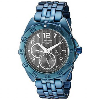 [macyskorea] Armitron Mens Quartz Stainless Steel Dress Watch, Color:Blue (Model: 20/4664D/16147203