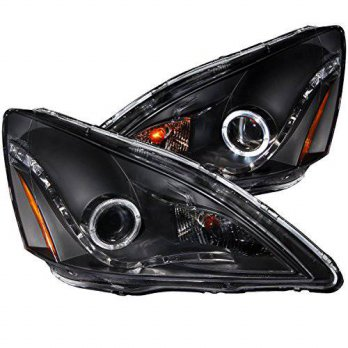 [macyskorea] AnzoUSA 121337 Black Clear R8 Style Projector Halo Headlight for Honda Accord/14123677