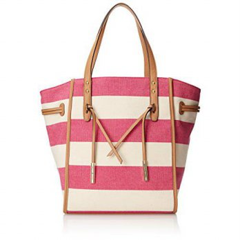 [macyskorea] Tommy Hilfiger Emma Travel Tote, Raspberry/Natural, One Size/14930639