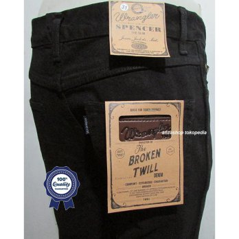 Celana Jeans Branded Wrangler Standar/Regular Hitam 27-32 CO