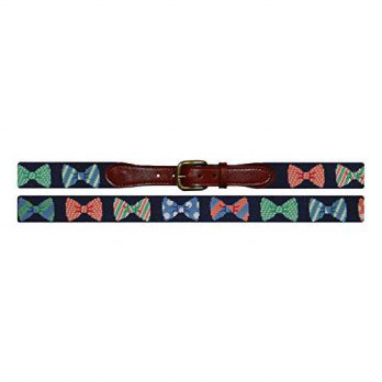 [macyskorea] Smathers & Branson Bow Ties Needlepoint Belt in Dark Navy - Size 36 (B-028-36/14895871