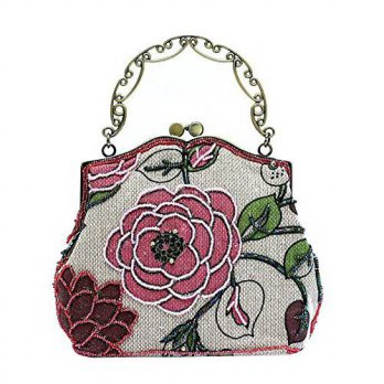 [macyskorea] Ilishop ILISHOP Womens Vintage Luxury Printing Beaded Women Handbag Evening B/14942797