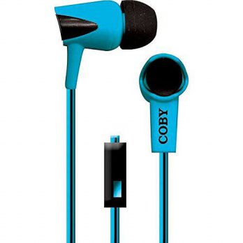 [macyskorea] Coby CVE-122-BLU Tangle-Free Two-Tone Flat Cable Stereo Earbuds, Blue/14956722