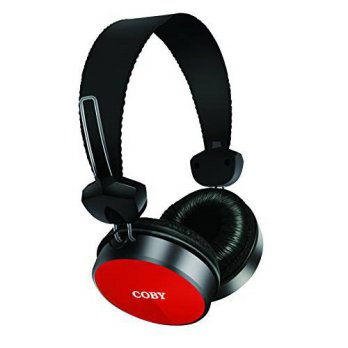 [macyskorea] Coby CVH-814-RED Alto Stereo Headphones with Built-In Mic, Red/14956716