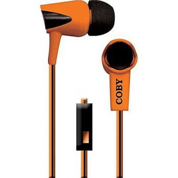 [macyskorea] Coby CVE-122-ORG Tangle-Free Two-Tone Flat Cable Stereo Earbuds, Orange/14956721