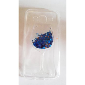 Softcase Water Glitter Glass Samsung J5 J500 Softcase Cover Water Sand Star Series Biru