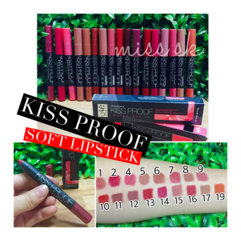 [LUSINAN] KISS PROOF / Kissproof by MN soft lipstick (harga per buah)