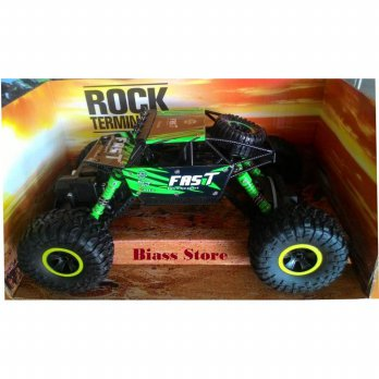 RC Car Rock Crawler Terminator 4WD 2.4GHz 4WD 1:18 Scale Hijau