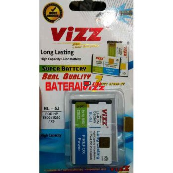 Baterai Battery Double Dobel Power Vizz Nokia BL-5J BL5J 2000Mah For Nokia 5800 6760 N97